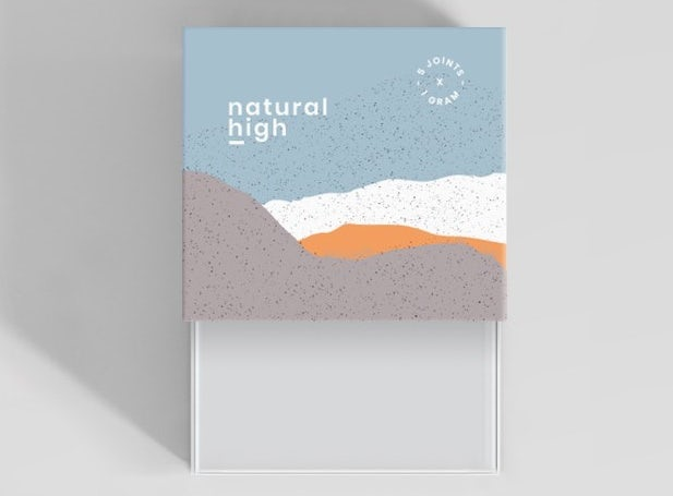 Natural High logo, box and tube