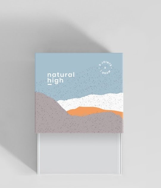 Graphic design trends 2020 example: Subtle paper cut-out packaging design