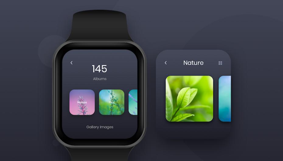 Ejemplo de tendencia de diseño web 2020 de navegación minimalista