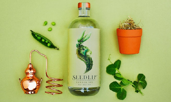 Packaging design trends 2020 example: Seedlip non-alcoholic spirits packaging