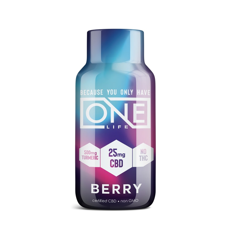 Packaging design trends 2020 example: bright purple pink and blue gradient bottle design