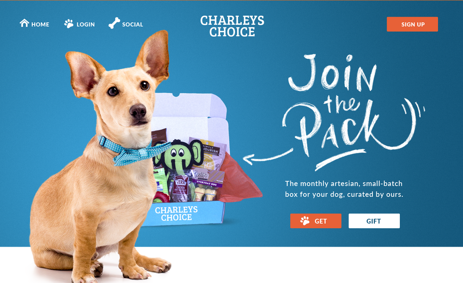 Charley's Choice website design