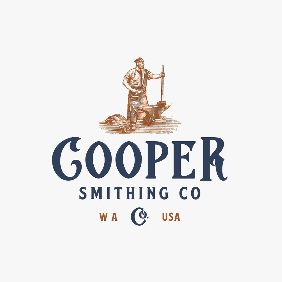 Font trends 2020 example: Logo design with a rustic font