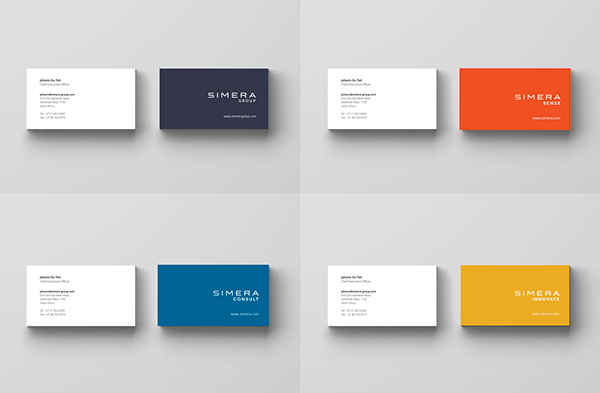 Simera group business cards