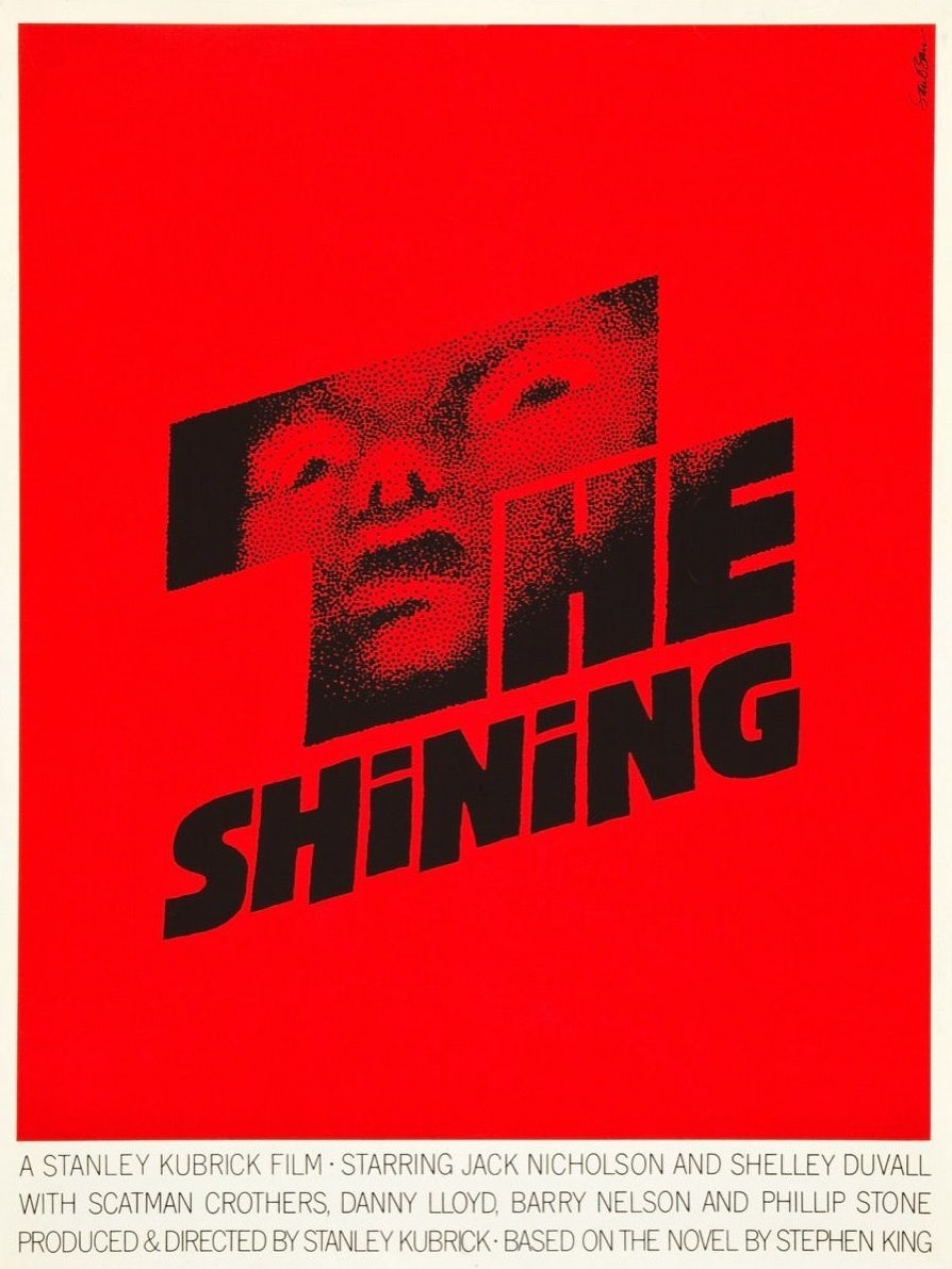 The Shining poster design by Saul Bass