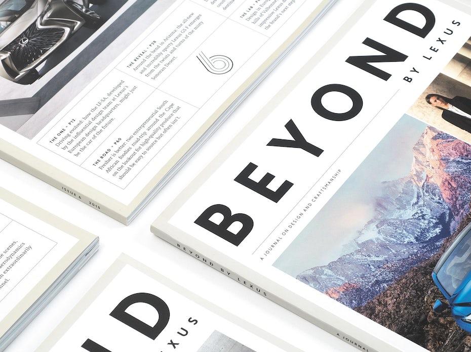 Lexus print materials