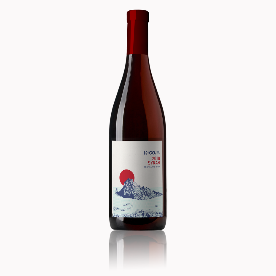 Color trends 2020 example: meaningful color Australian wine label