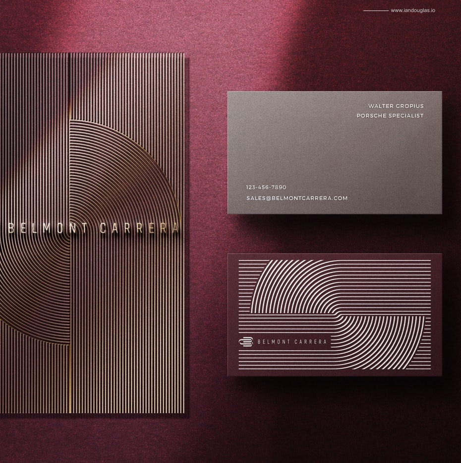 belmont carrera purple business card