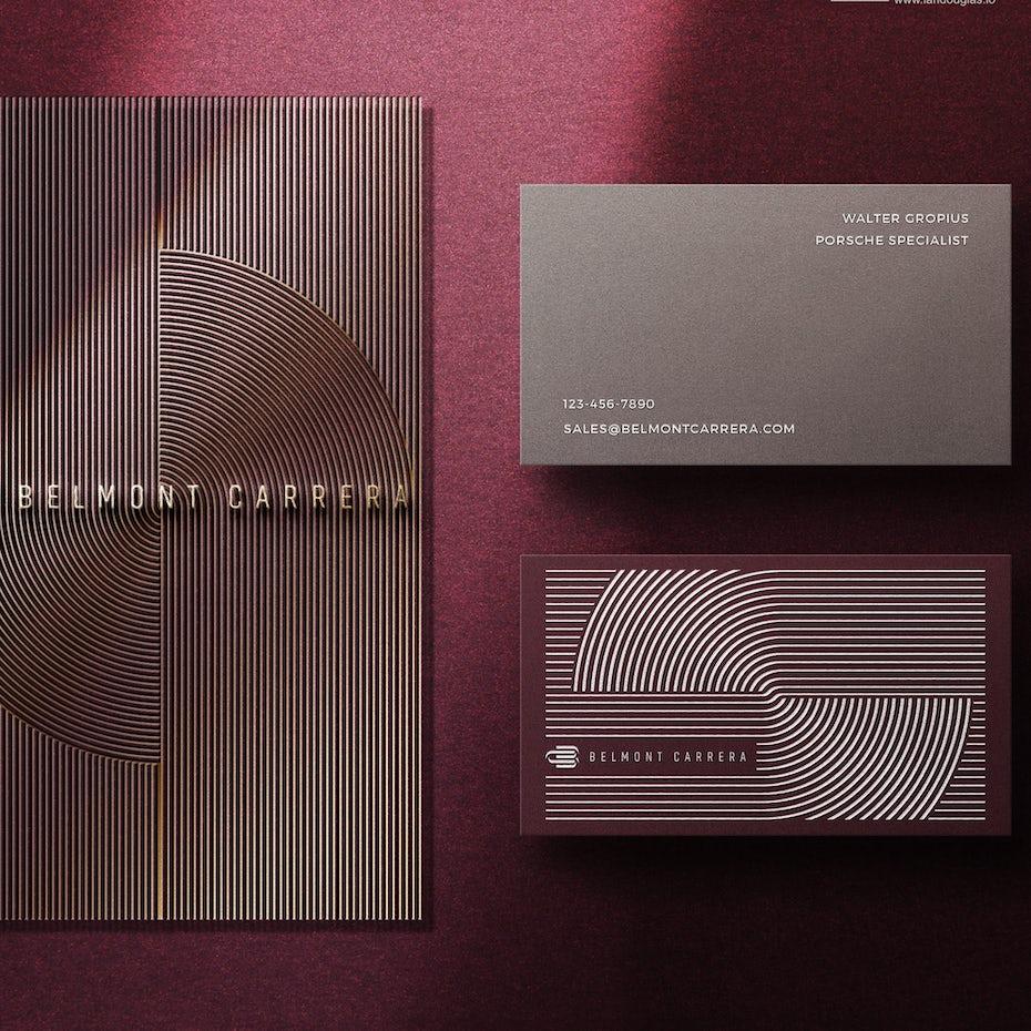 belmont carrera purple business card