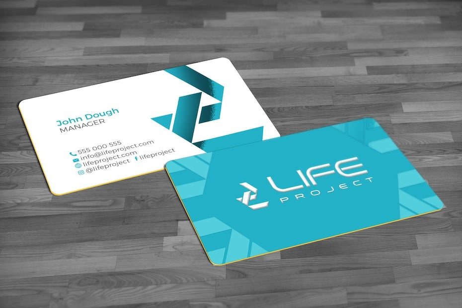 bright colors business card