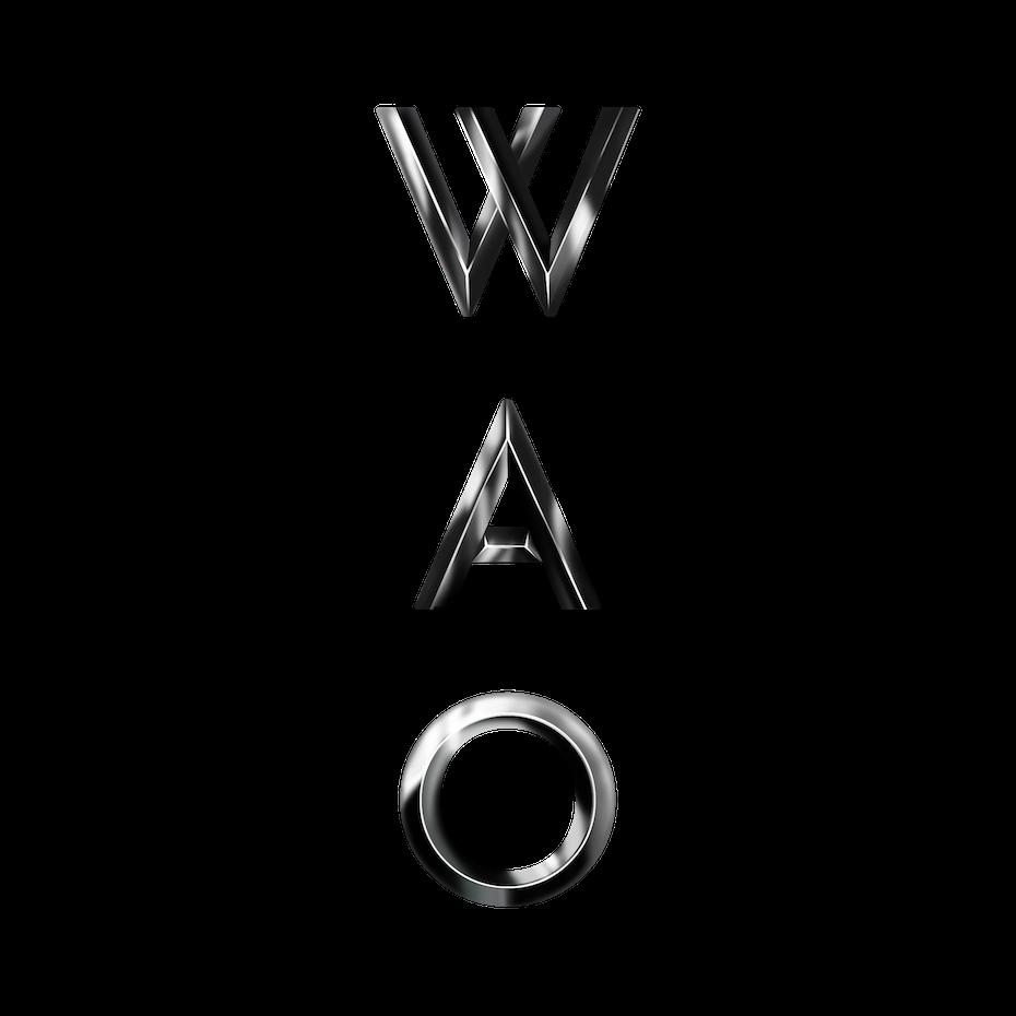 metallic 3D logo