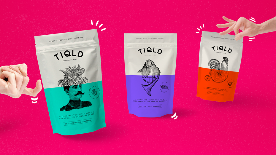 Tiqld Spices packaging
