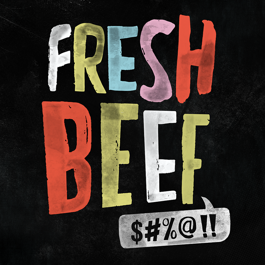 Branding trends 2020 example: Fresh Beef podcast branding