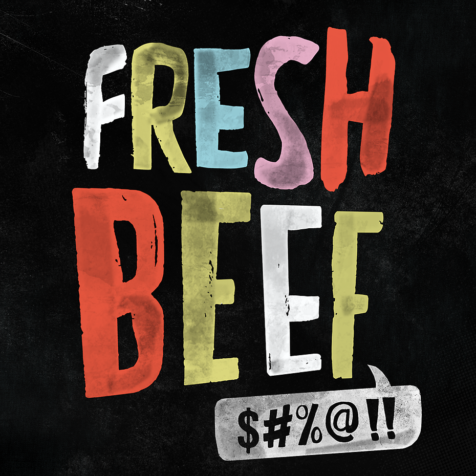 Fresh Beef podcast branding