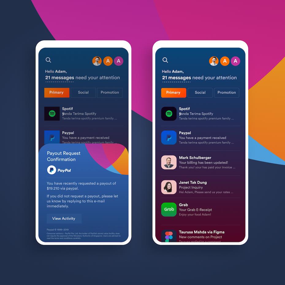 Email app design