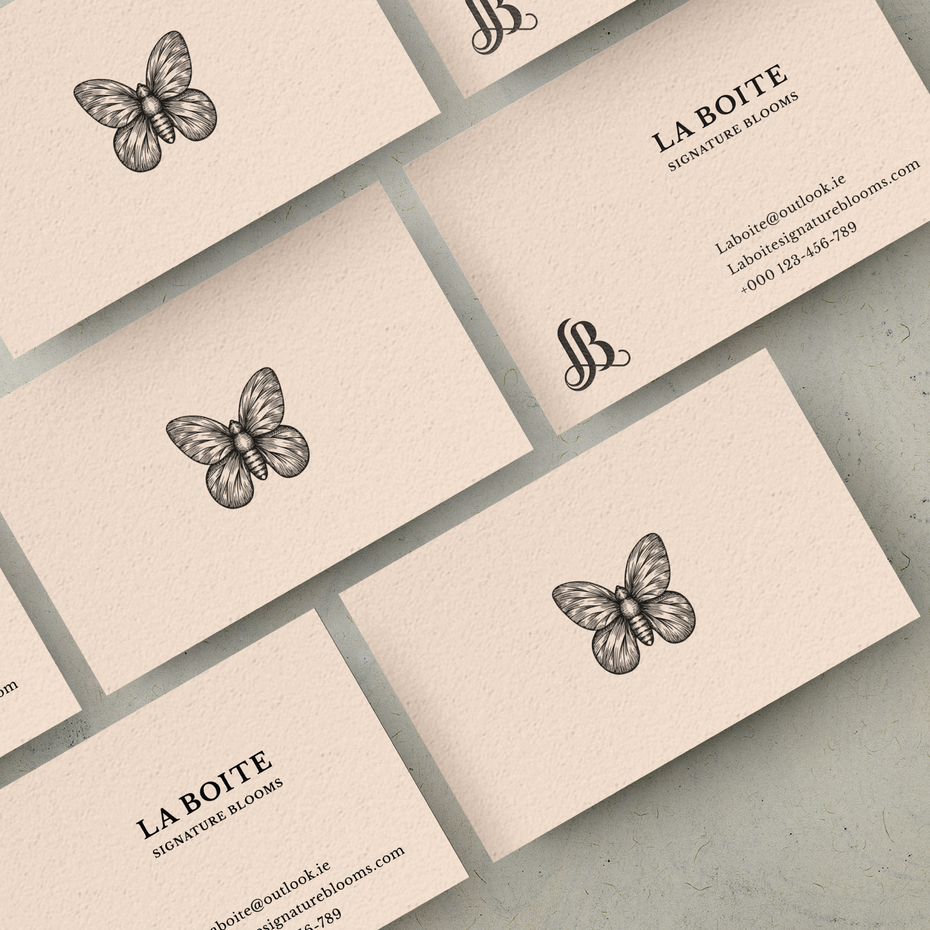 Butterfly drawing business card