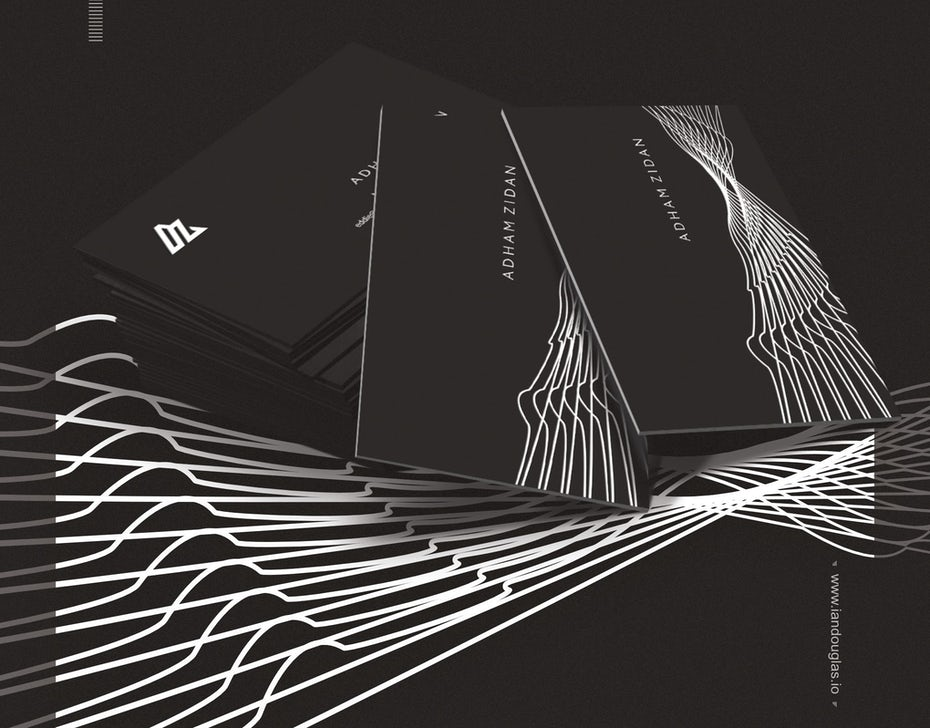 Business cards trends 2020 example: monochrome business card design