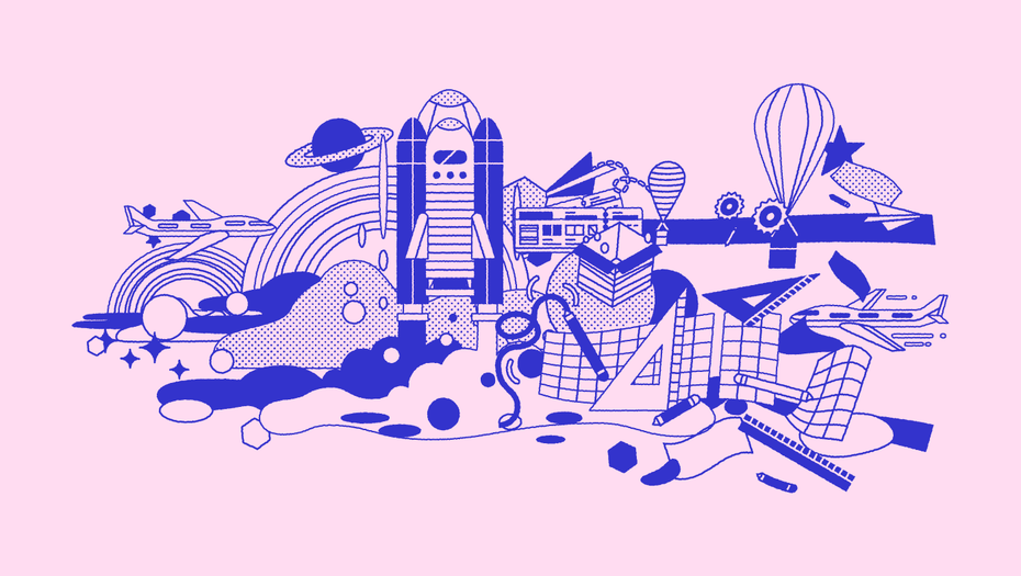Branding trends 2020 example: Voyageur illustration