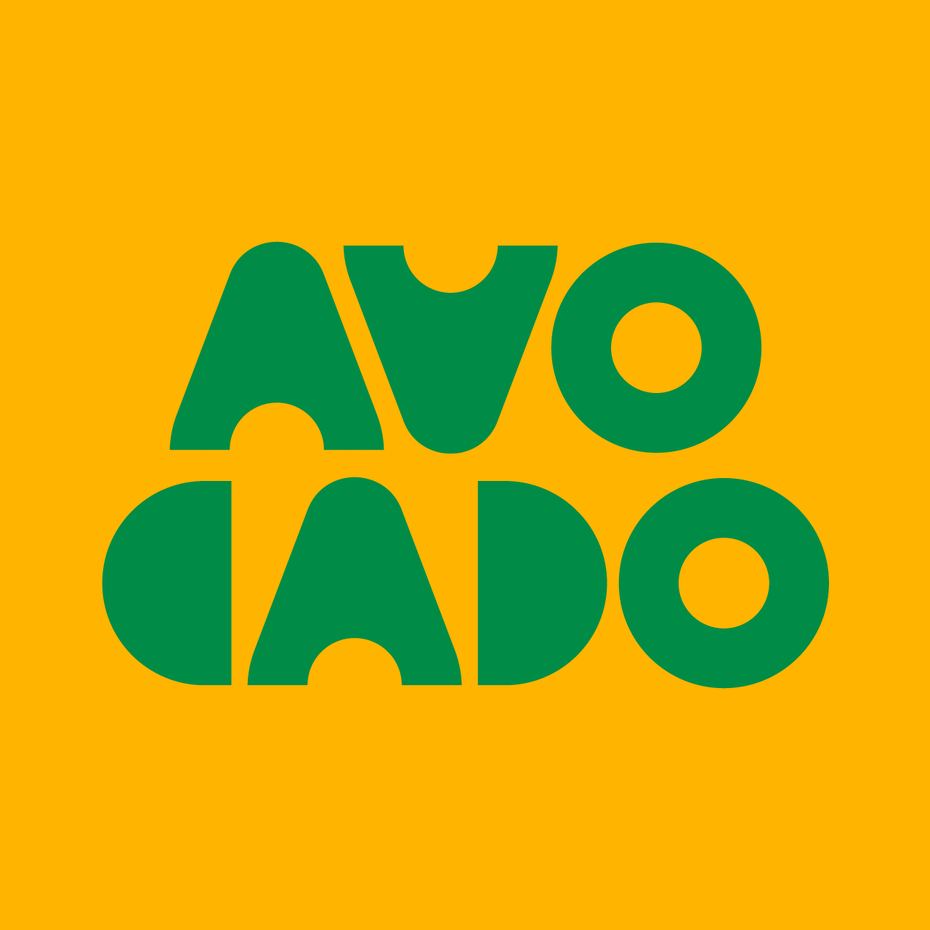 Branding trends 2020 example: Avocado graphic
