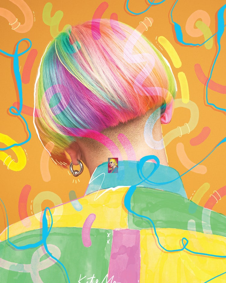 Kate Moross colorful poster design