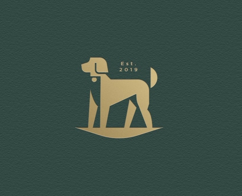 Branding trends 2020 example: Luxury dog hair care logo