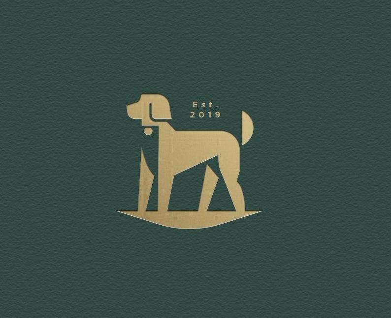 Luxury dog hair care logo
