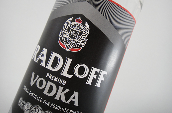 Radloff vodka packaging