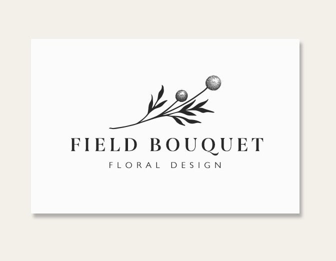 Business cards trends 2020 example: field boutique flower card