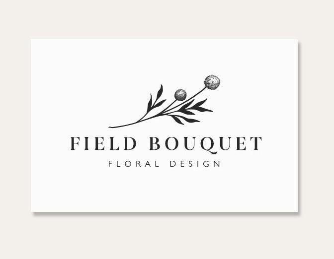 Ejemplo de tarjetas de visita 2020: tarjeta de flores de boutique de campo