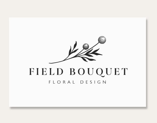 field boutique flower card