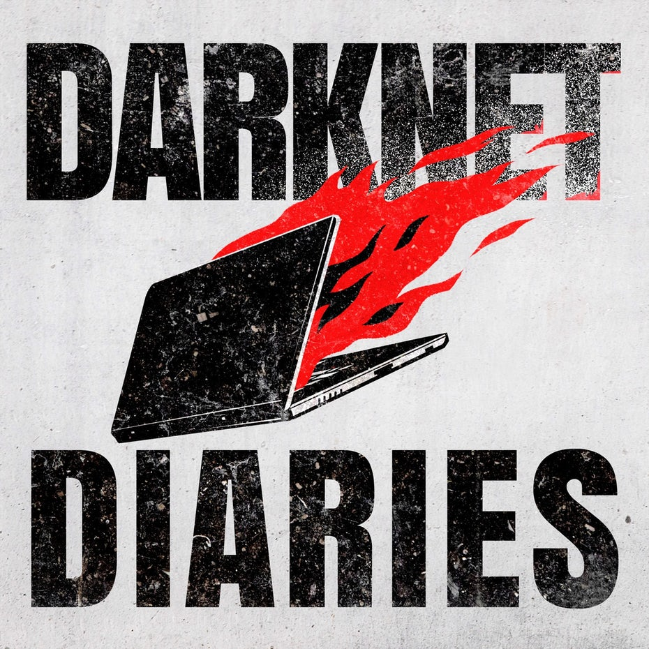 Color trends 2020 example: meaningful color Darknet Diaries podcast logo