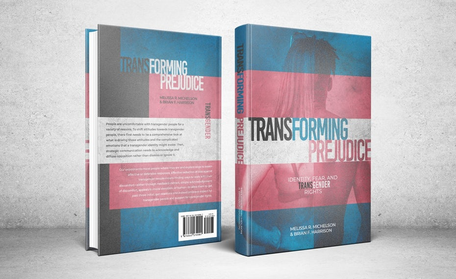 Color trends 2020 example: Transforming Prejudice book cover with transparent color overlay