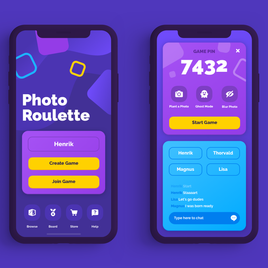Color trends 2020 example: futuristic color UI/UX design