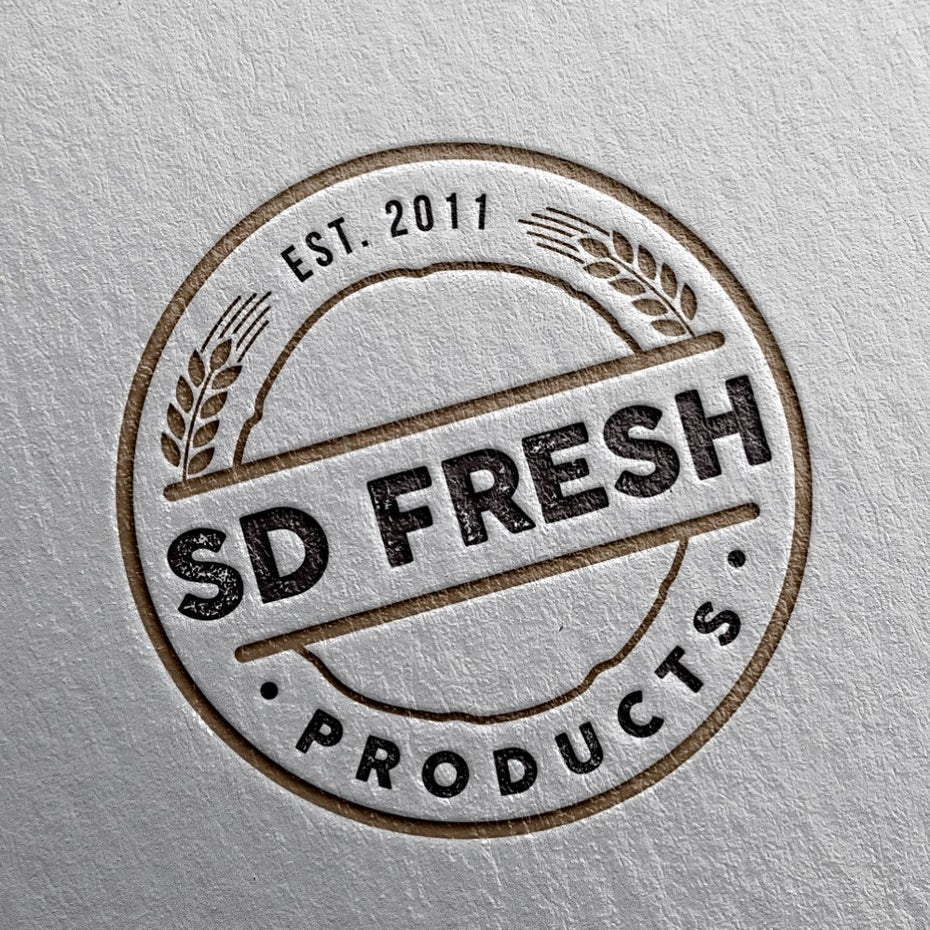sd fresh products logo design
