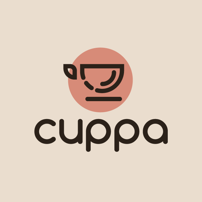 Logo design with round sans serif font
