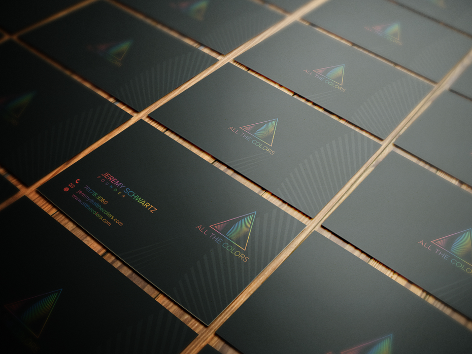 all the colors business card