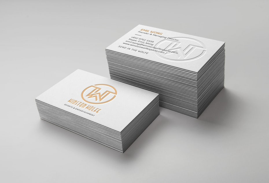 Business cards trends 2020 example: winston wolfe business card
