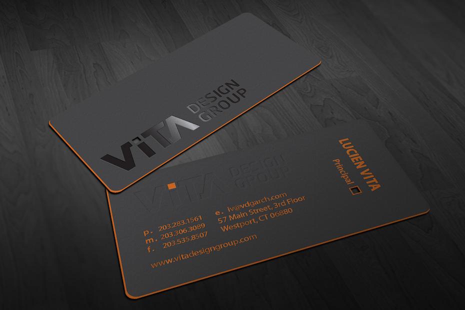 Ejemplo de tendencias de tarjetas de visita 2020: tarjeta de visita con borde colorido