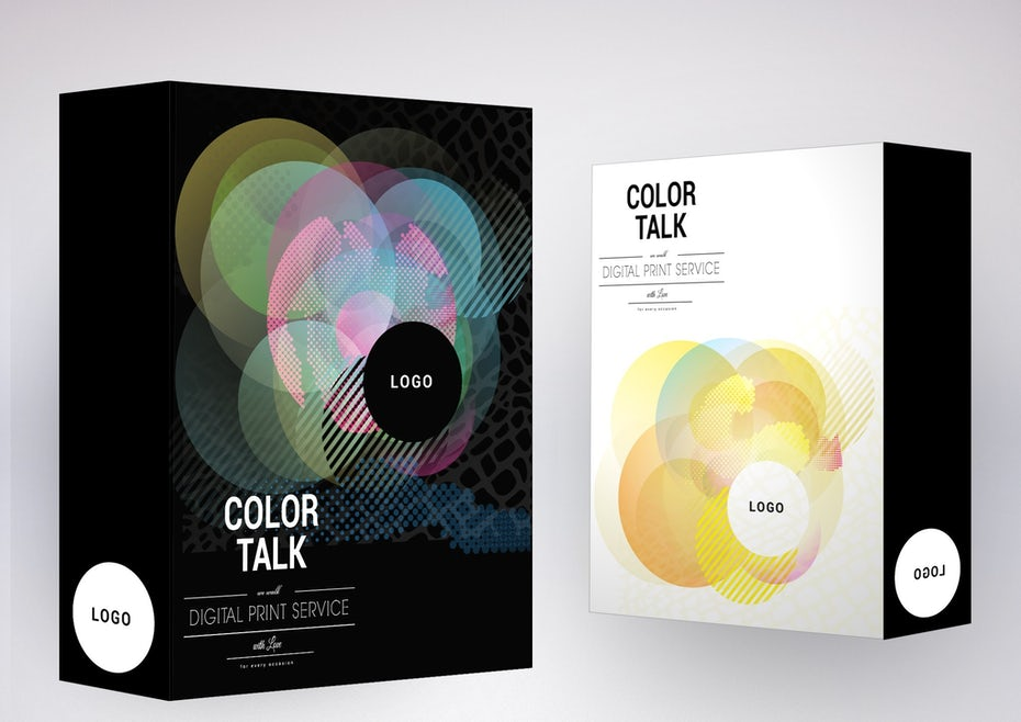Color trends 2020 example: transparent color Talk packaging