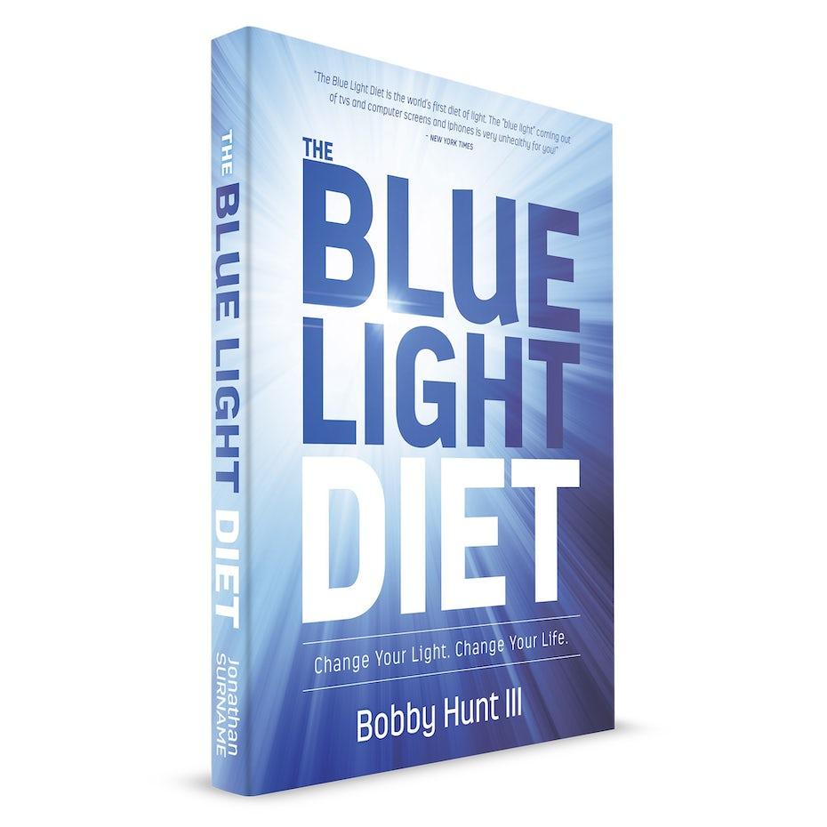 classic blue book cover design