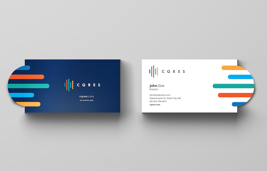 logo pops out of business card