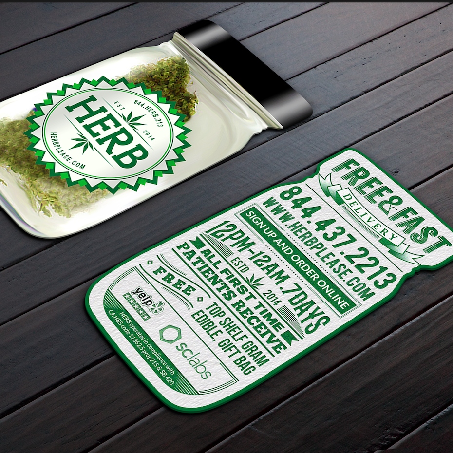 Business cards trends 2020: jar shaped business card