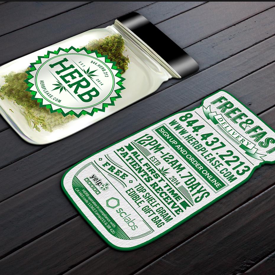 jar shaped business card