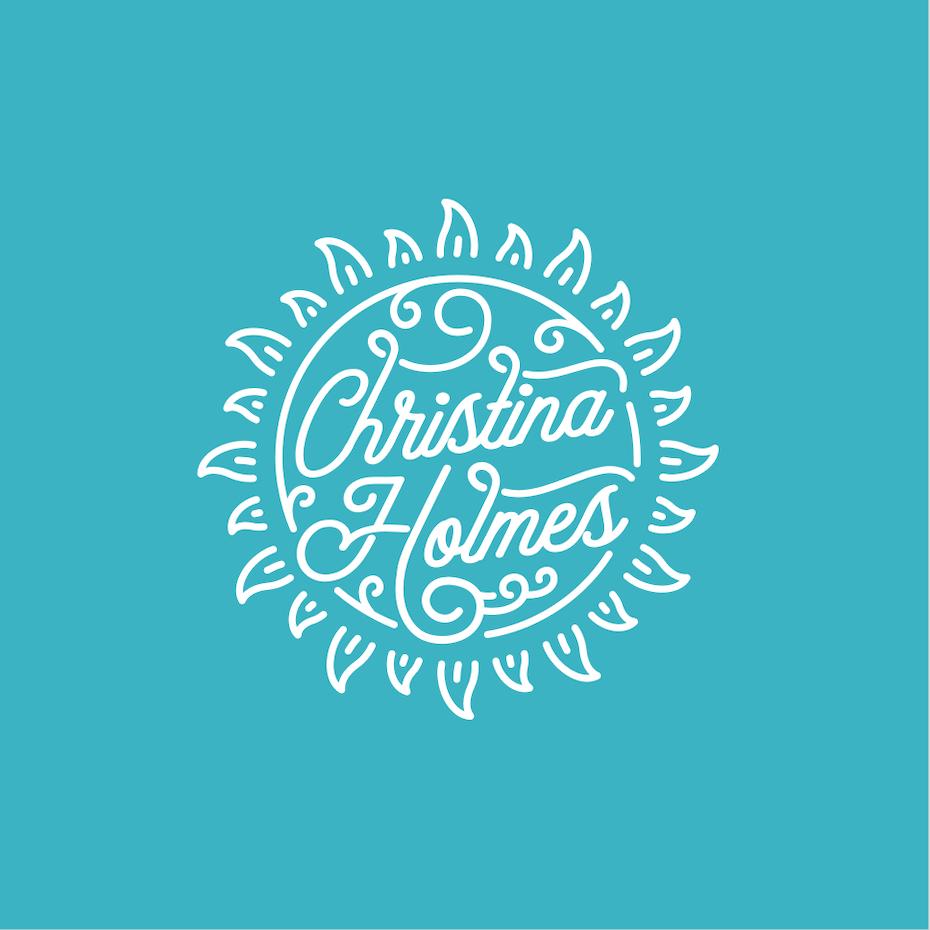 Branding trends 2020 example: Christina Holmes musician logo