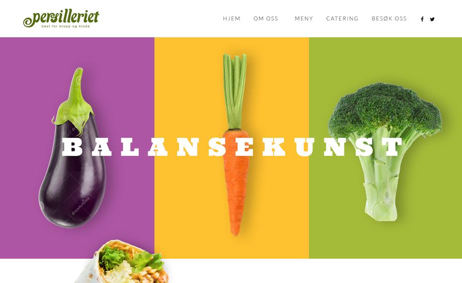 Vegan eatery website design