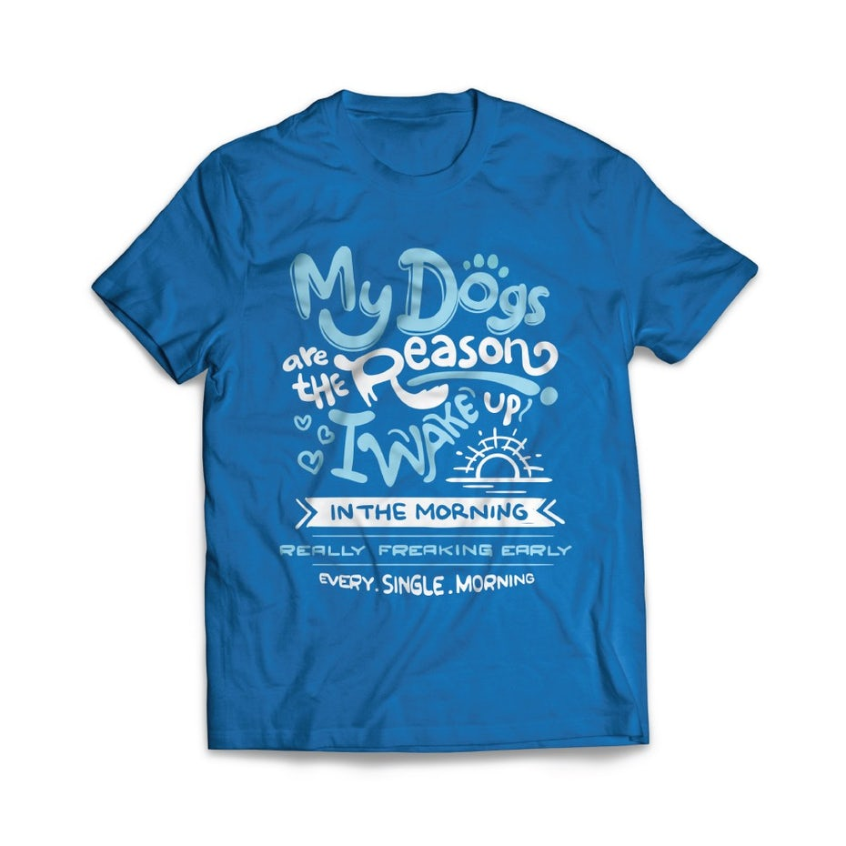 color trends 2020 example classic blue tshirt design