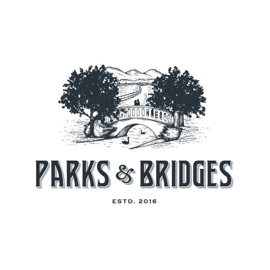 Logo design with a rustic font