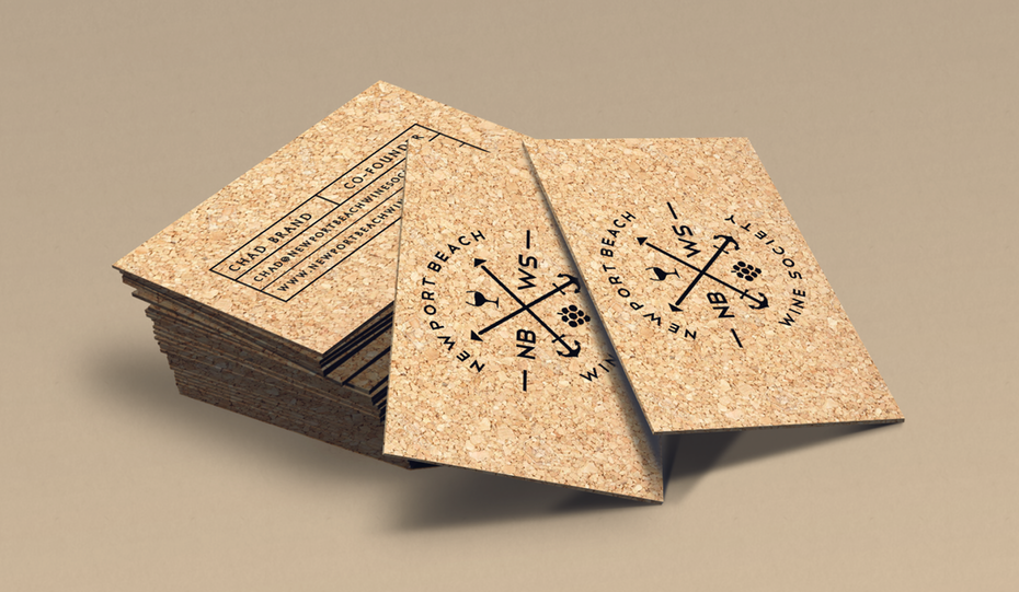 Business cards trends 2020 example: cork business card with texture