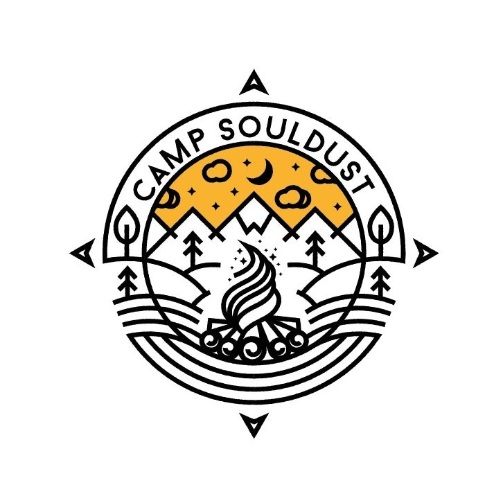 Branding trends 2020 example: Camp Souldust logo
