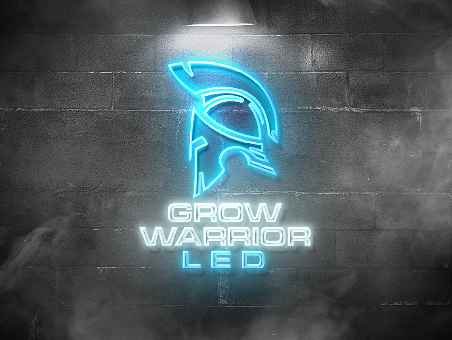 Color trends 2020 example: neon Grow Warrior logo